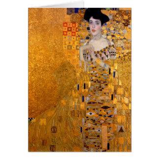"Gustav Klimt ""Adele"" porträttvintage Hälsningskort"