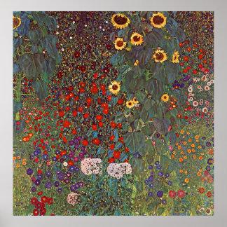 Gustav Klimt affisch~ blomsterträdgården Poster