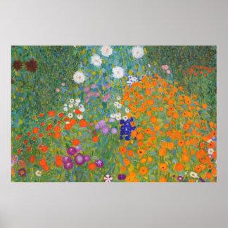 Gustav Klimt //Bauerngarten //lantgårdträdgård Poster