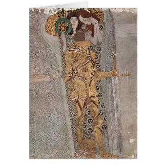 Gustav Klimt - Beethovenfrisen Hälsningskort