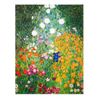Gustav Klimt blomsterträdgårdvykort Vykort