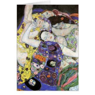 Gustav Klimt - den jungfruliga oljan Hälsningskort