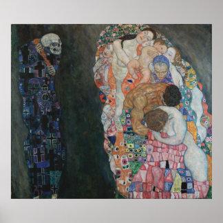 Gustav Klimt - Död och Liv, 1910 Poster