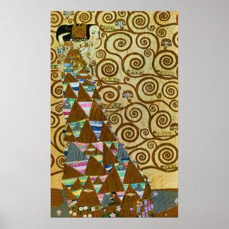 Gustav Klimt förväntanaffisch Poster