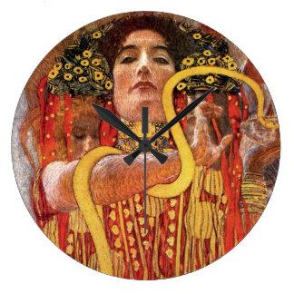 Gustav Klimt - Hygieia medicingudinna av vård- Stor Klocka