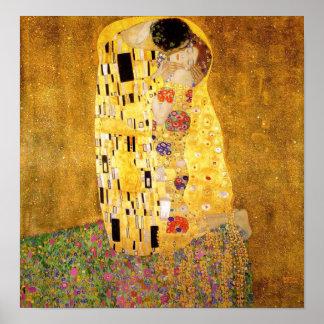 Gustav Klimt kyssaffischen Poster