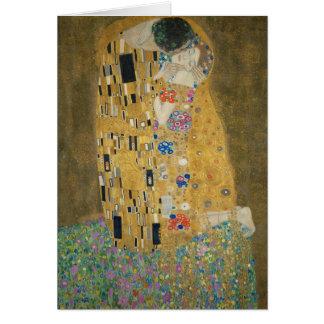 Gustav Klimt - kyssen Hälsningskort