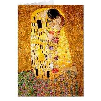 """Gustav Klimt """"kyssen """", Hälsningskort"""