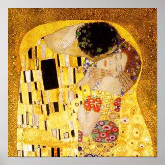 Gustav Klimt kyssen Poster
