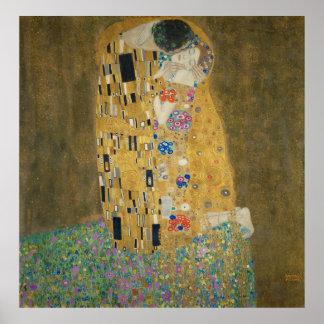 Gustav Klimt - kyssen Poster