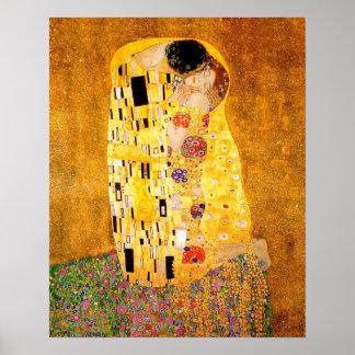 """Gustav Klimt """"kyssen """", Poster"""