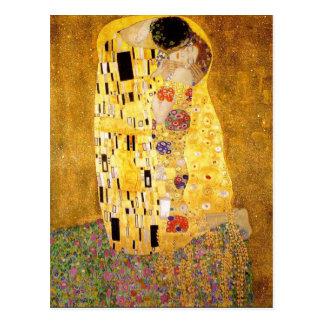 Gustav Klimt kyssvykortet Vykort