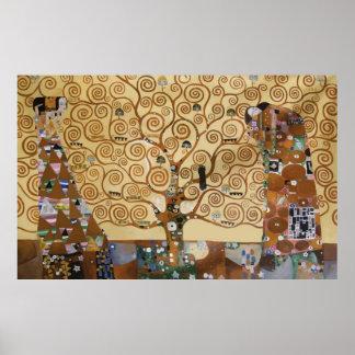 Gustav Klimt livets träd Poster