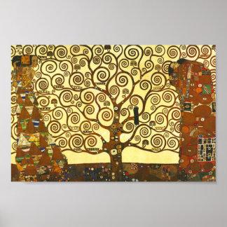 Gustav Klimt livets trädaffisch Poster