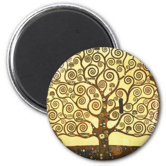 Gustav Klimt livets trädmagnet Magnet För Kylskåp