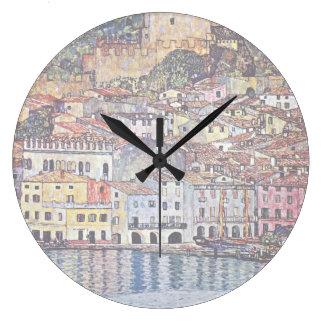 Gustav Klimt - Malcesine på den sjöGarda italien Stor Klocka