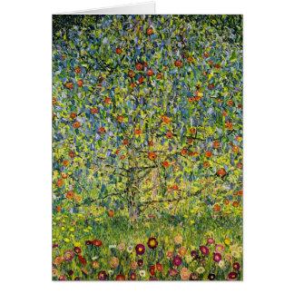 Gustav Klimt målningart nouveau det Apple träd Hälsningskort