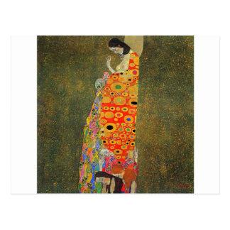 Gustav Klimt övergett hopp Vykort