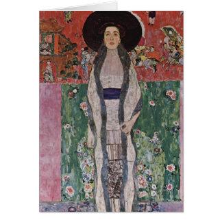 Gustav Klimt porträtt av Adele Bloch-Bauer II Hälsningskort