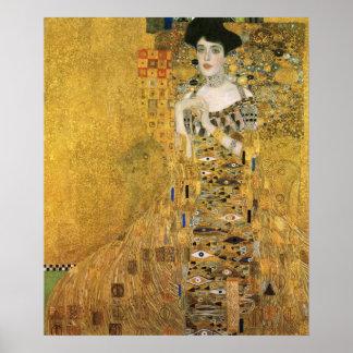 Gustav Klimt - porträtt av Adele Bloch Bauer Poster