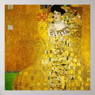 Gustav Klimt porträtt av den Adele affischen Poster