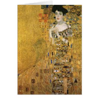 Gustav Klimt - porträtt av det Adele kvarteret Hälsningskort