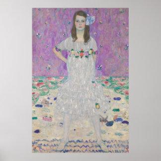 Gustav Klimt - porträtt av Mäda Primavesi Poster