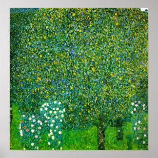 Gustav Klimt ro under affischen för Pearträd Poster