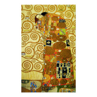 Gustav Klimt uppfyllelseaffisch Poster