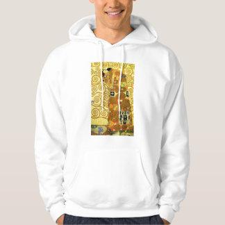 Gustav Klimt uppfyllelseHoodie Munkjacka