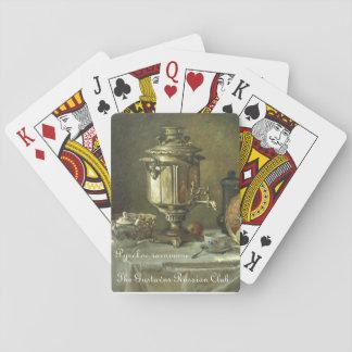 Gustavus rysk TeaSamovar som leker kort Spel Kort