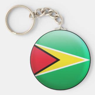 Guyana flagga rund nyckelring