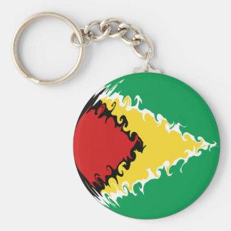 Guyana Gnarly flagga Rund Nyckelring