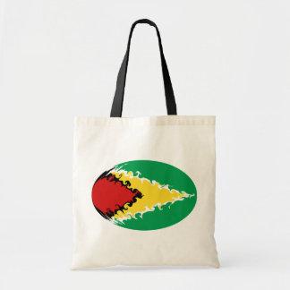 Guyana hänger lös den Gnarly flagga Tygkasse
