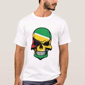 Guyanese flaggaskalle t shirt