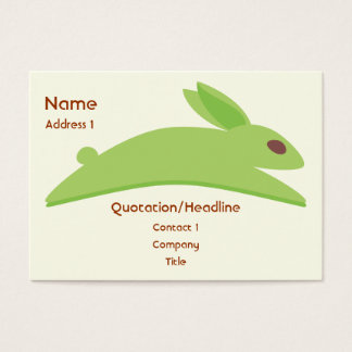 Gwennie bullen: Gwen med morötter Visitkort
