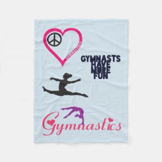 Gymnastik är i min hjärtafilt fleecefilt