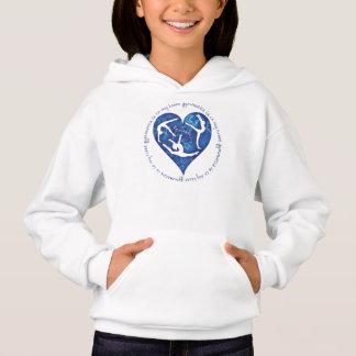 Gymnastik är i min Hooded tröja för hjärtaflickor