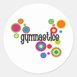 Gymnastik kyler polka dots runt klistermärke