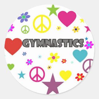 Gymnastik med blandade diagram runt klistermärke