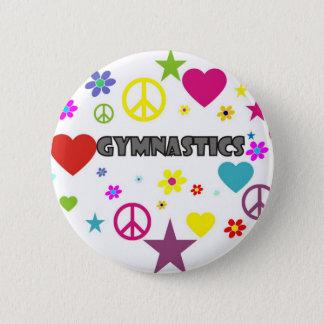 Gymnastik med blandade diagram standard knapp rund 5.7 cm