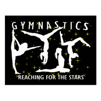 Gymnastik som ner för stjärnorna vykort