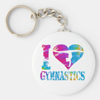 Gymnastikdansjubel Keychain Rund Nyckelring