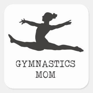 Gymnastikmamma Fyrkantigt Klistermärke