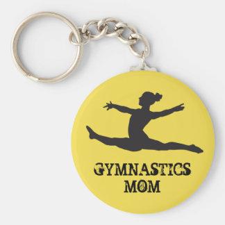 Gymnastikmamma Keychain Rund Nyckelring