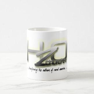 H2O som omformar en kulturmugg Kaffemugg