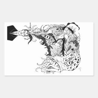 H.P. Lovecrafts monster Rektangulärt Klistermärke