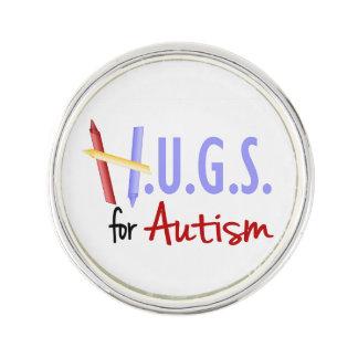 H.U.G.S. för Autismslag klämma fast Kavajnål