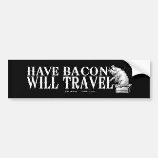 Ha bacon att ska reser bildekal