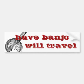 ha banjoen att ska reser bildekalet bildekal